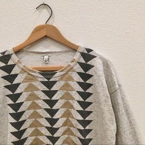 J.Crew Metallic Geometric Sweatshirt